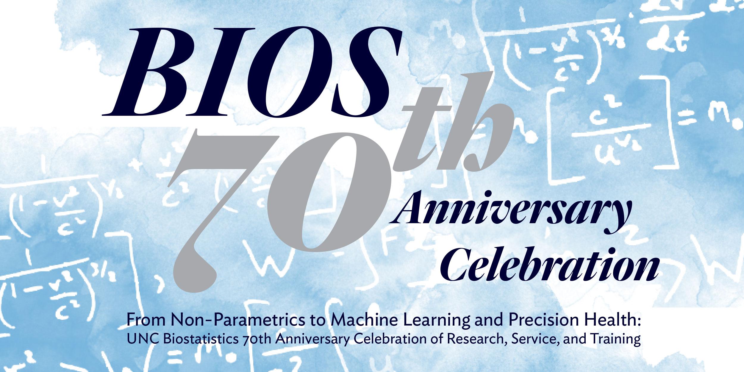 Department of Biostatistics 70th Anniversary Celebration